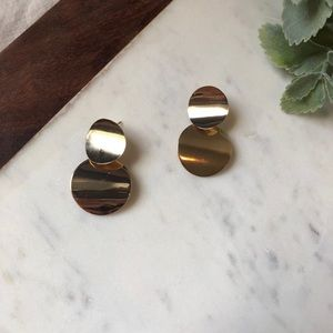 Jewelry - The Caroline in Gold - Layered Coin Drop Earrings